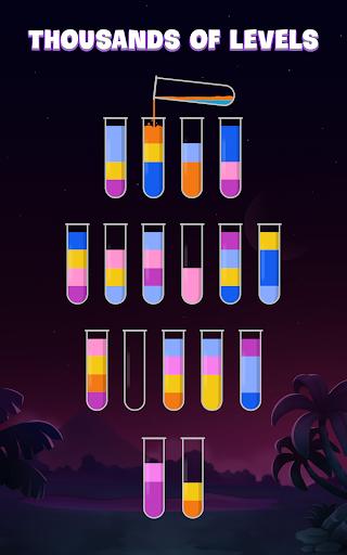 ソートウォーターパズル - 色分けゲーム screenshot 17