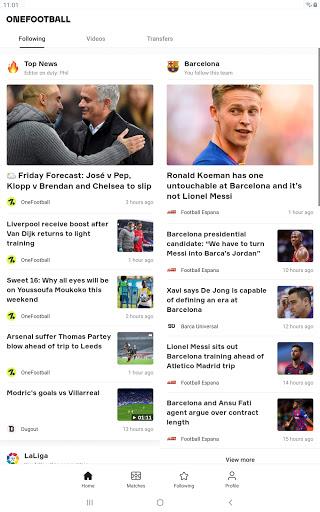 OneFootball - Soccer News, Scores & Stats 9 تصوير الشاشة