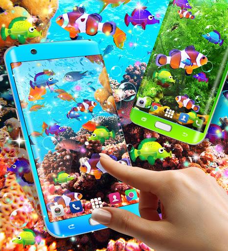 الأسماك خلفية حية 5 تصوير الشاشة