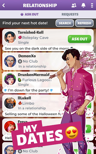 Party in my Dorm: College Life Roleplay Chat Game screenshot 3