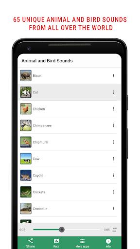 Animal and Bird Sounds screenshot 1