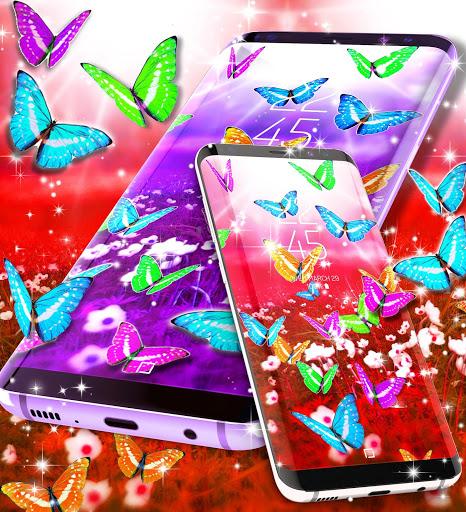 Butterflies live wallpaper 4 تصوير الشاشة