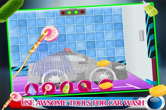 Messy Police Car Wash Salon screenshot 2