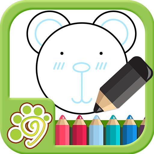 Draw by shape - easy drawing game for kids icon