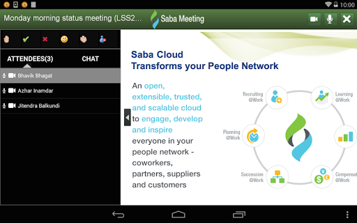 Saba Meeting screenshot 9
