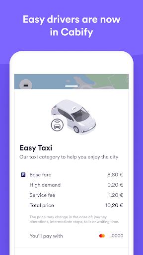 Easy Taxi, a Cabify app скриншот 1