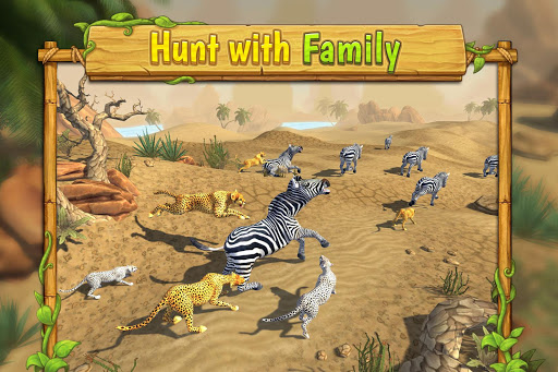 Cheetah Family Sim - Animal Simulator 2 تصوير الشاشة