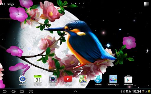 Sakura and Bird Live Wallpaper screenshot 7