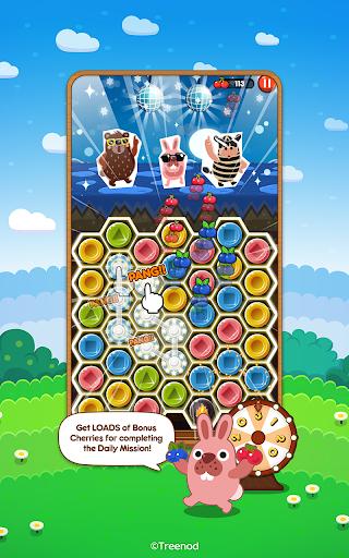 LINE Pokopang - POKOTA's puzzle swiping game! screenshot 2