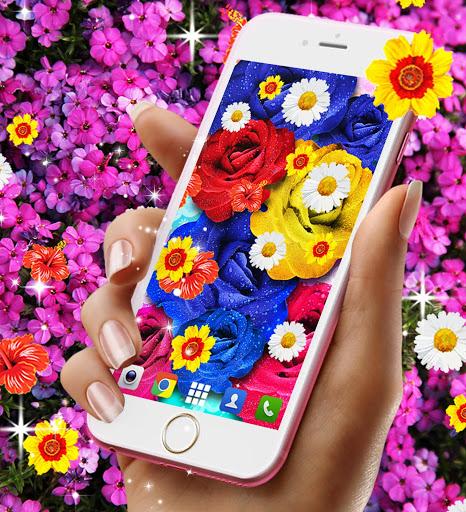 Flowers live wallpaper 5 تصوير الشاشة