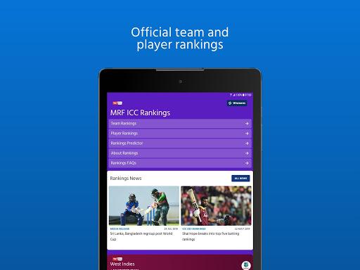 ICC - Live International Cricket Scores & News 12 تصوير الشاشة