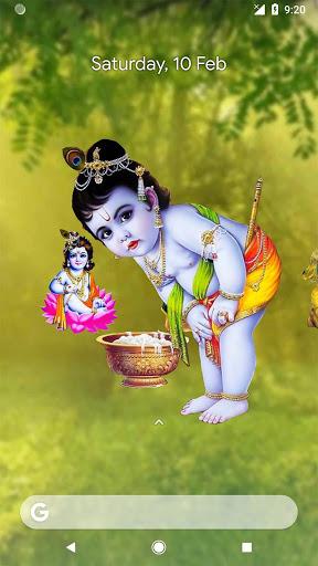 4D Little Krishna App & Live Wallpaper screenshot 1