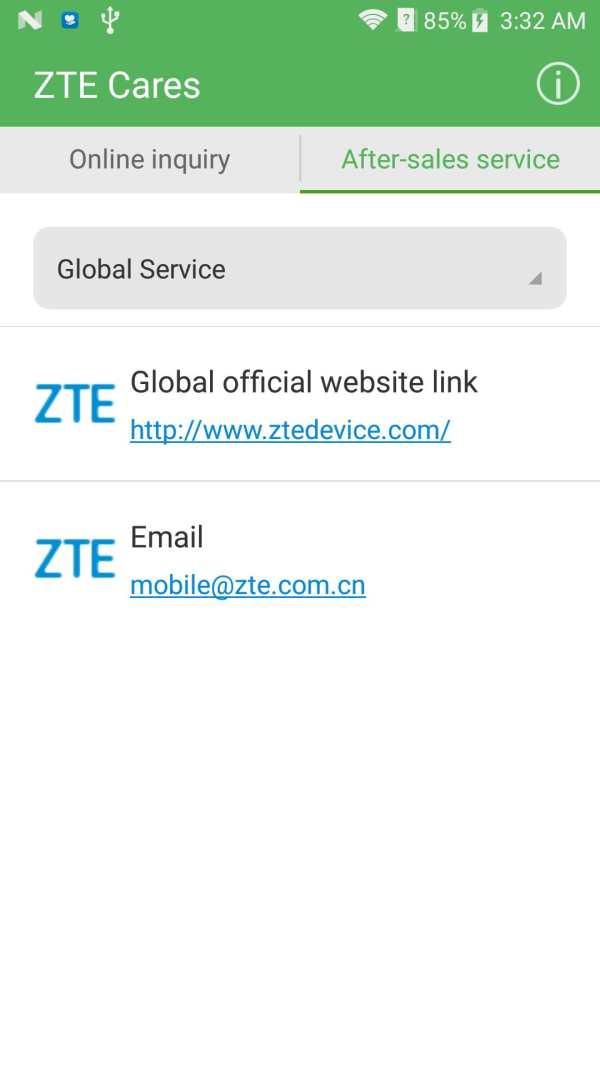 ZTE Cares screenshot 2