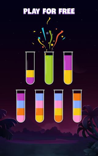 ソートウォーターパズル - 色分けゲーム screenshot 20