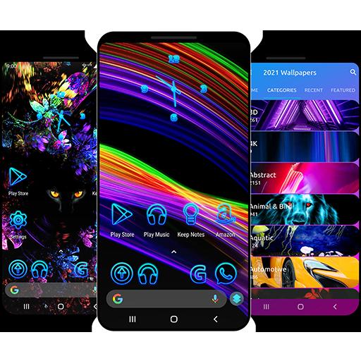 خلفيات 2021 وموضوعات لنظام Android ™ أيقونة