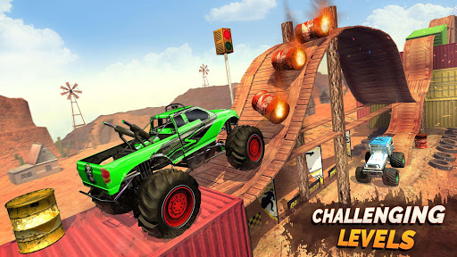 Monster Truck Ramp Stunts OffRoad Car Racing Game screenshot 3