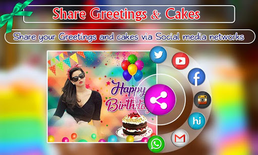 Birthday Photo Frames, Greetings and Cakes 2021 5 تصوير الشاشة