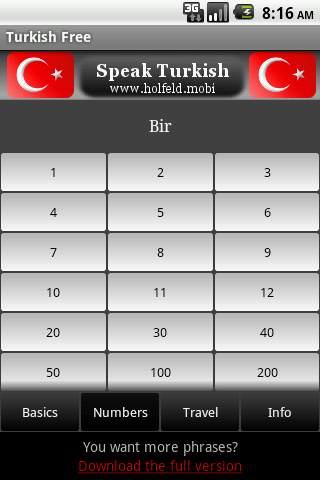 Speak Turkish Free screenshot 2