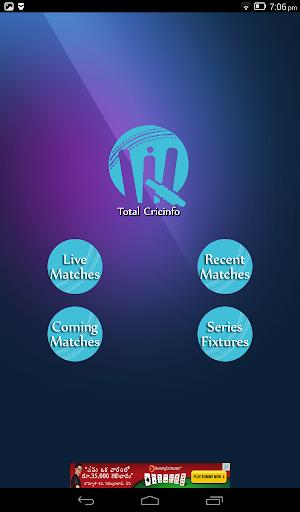 Live Cricket Scores & Updates -Total Cricinfo 9 تصوير الشاشة