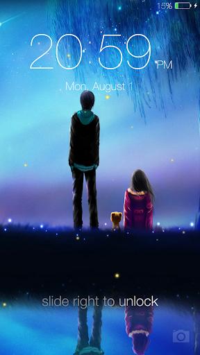 Fireflies lockscreen 2 تصوير الشاشة