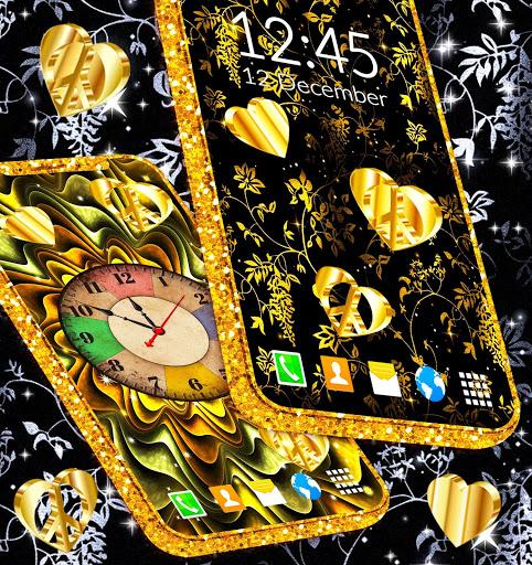 Gold Hearts 4K Wallpaper 💛 Golden live Wallpaper 3 تصوير الشاشة