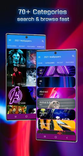 خلفيات 2021 وموضوعات لنظام Android ™ 3 تصوير الشاشة