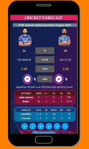 cricket forecast ( prediction, BBL ,BPL, IPL,PSL ) screenshot 4
