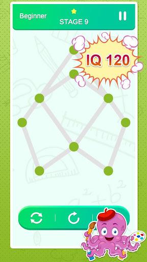 One Stroke Drawing Puzzle 4 تصوير الشاشة