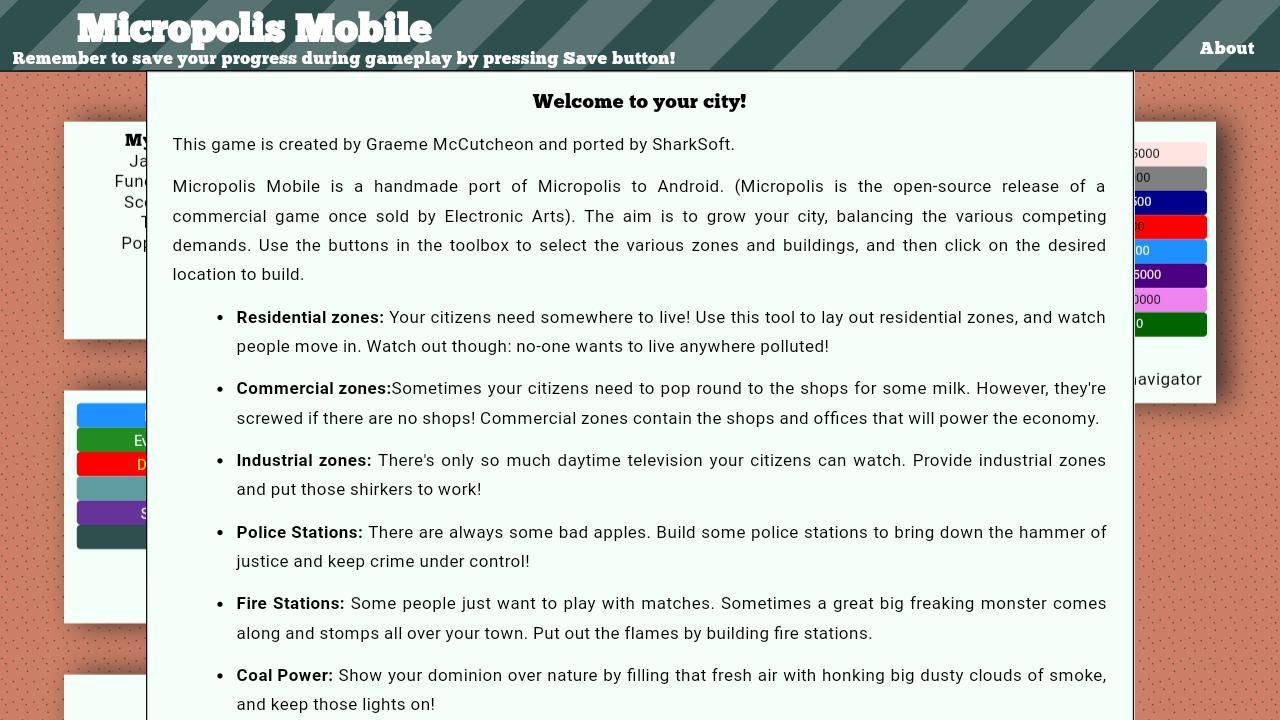Micropolis Mobile 6 تصوير الشاشة