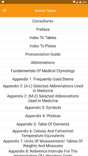 Dorland's Medical Dictionary 3 تصوير الشاشة