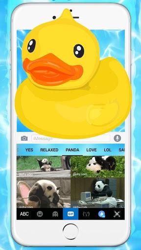 Тема для клавиатуры Funny Yellow Duck Pool скриншот 5