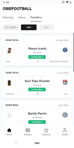 OneFootball - Soccer News, Scores & Stats 7 تصوير الشاشة
