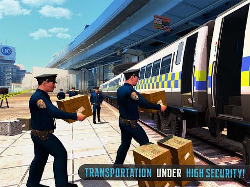 Police Train Shooter Gunship Attack : Train Games screenshot 15