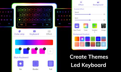 LED Lighting Keyboard - Emojis, Fonts, GIF screenshot 4