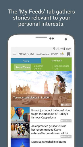 News Suite by Sony 3 تصوير الشاشة