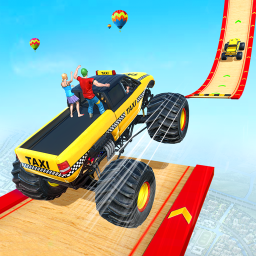 Grand Taxi Monster Truck Driving Stunt Racing Game icon