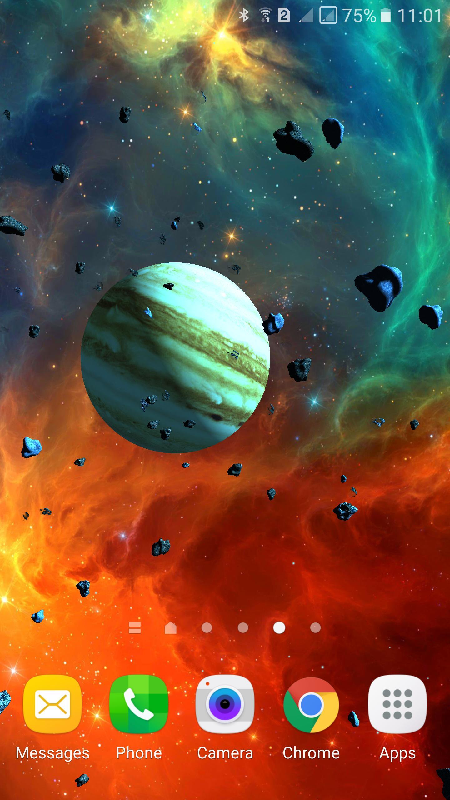 Asteroids 3D live wallpaper 7 تصوير الشاشة