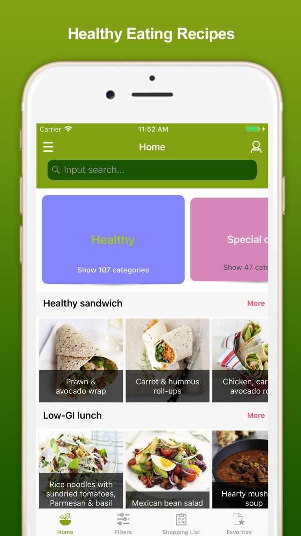Healthy Eating Recipes screenshot 1
