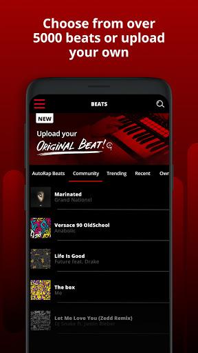 AutoRap by Smule: Record rap over beats w/vocal FX screenshot 2