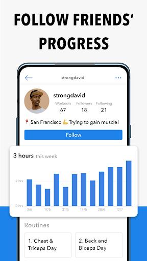 Hevy - Workout Tracker Planner Weight Lifting Log 7 تصوير الشاشة