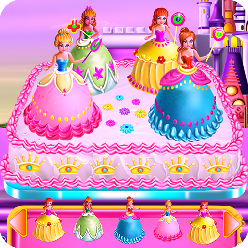 Princesses Cake Cooking أيقونة