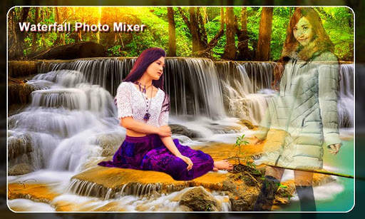 Waterfall Photo Blender : Photo Mixer screenshot 2
