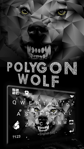Polygon Wolf Keyboard Theme screenshot 2