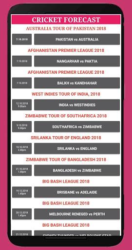 cricket forecast ( prediction, BBL ,BPL, IPL,PSL ) screenshot 5