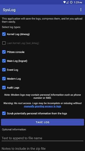 SysLog screenshot 1