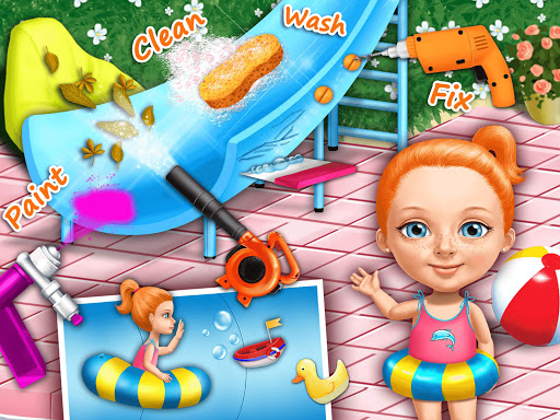Sweet Baby Girl Cleanup 4 - House, Pool & Stable screenshot 12