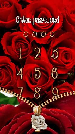 Rose Theme Zipper Lock Screen screenshot 2