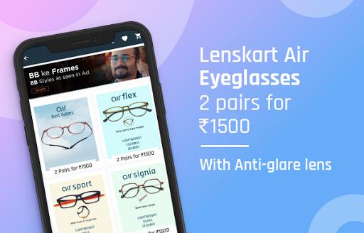 Lenskart: Eyeglasses, Sunglasses, Contact Lens App скриншот 4