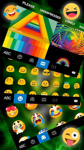 ثيم لوحة المفاتيح Rasta Weed Skull 4 تصوير الشاشة
