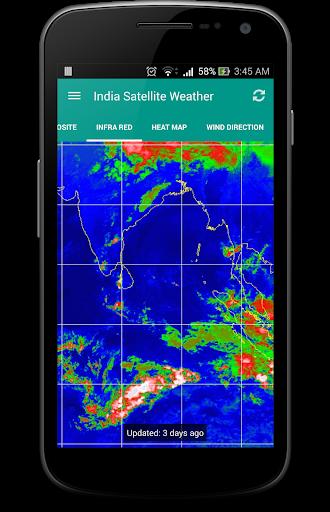 India Satellite Weather 5 تصوير الشاشة